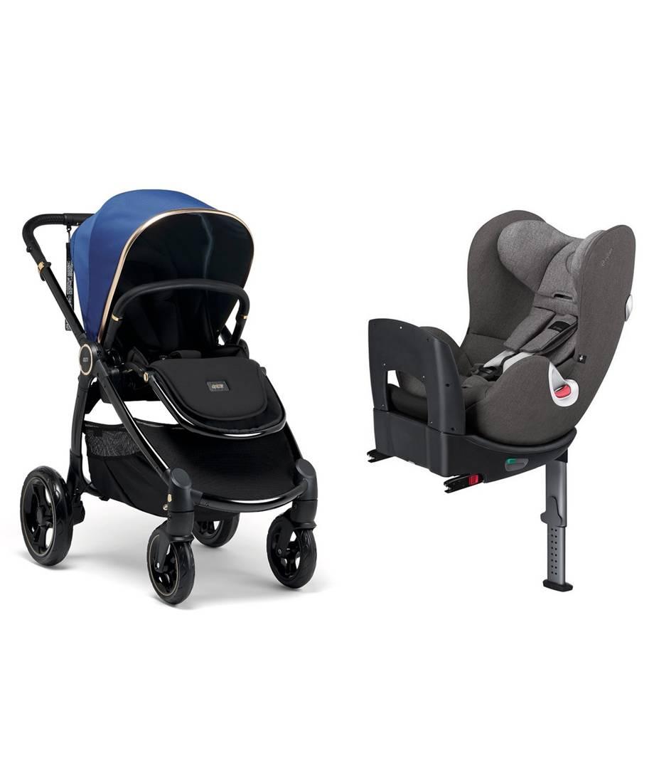 طقم عربة أطفال إصدار مميز من أوكارو + مقعد سيارة سايبكس سيرونا - أزرق ياقوتي